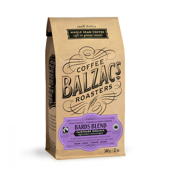 Balzacs Coffee Roasters Bards Blend Whole Bean Coffee 12 oz.