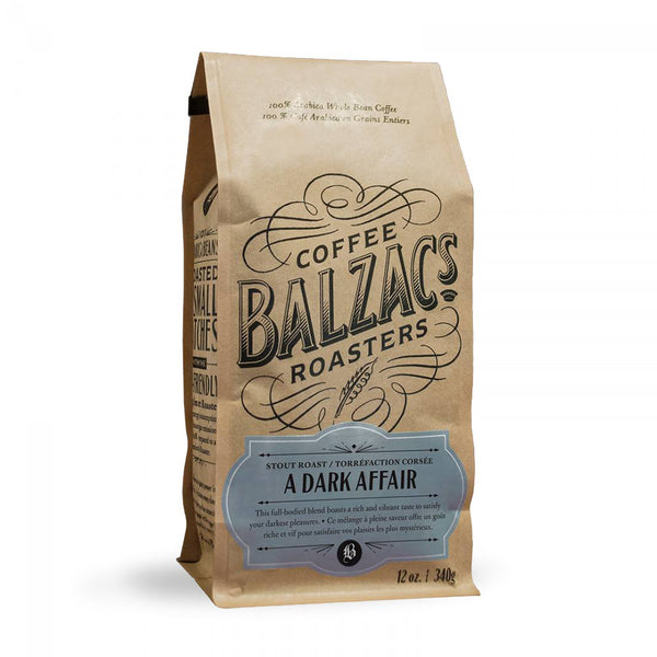 Balzacs Coffee Roasters A Dark Affair Whole Bean Coffee 12 oz.