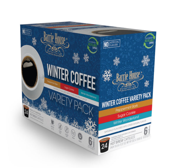 Barrie House Winter Variety Single Serve Coffee 24 Pack Pack