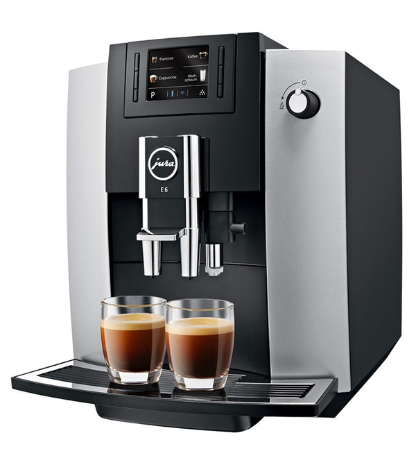 Jura E6 Automatic Espresso Machine, Platinum