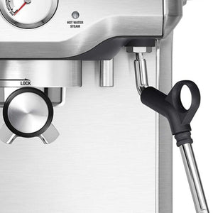 Close Up of the Breville Infuser Steam Wand & Brew Group
