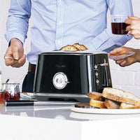 Breville The Toast Select Luxe Toaster, Black Truffle