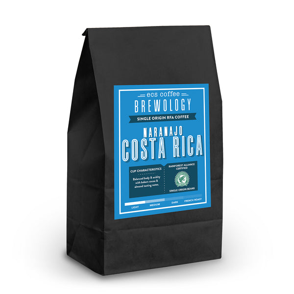 Naranajo Costa Rica Single Origin RFA Whole Bean Coffee 1lb