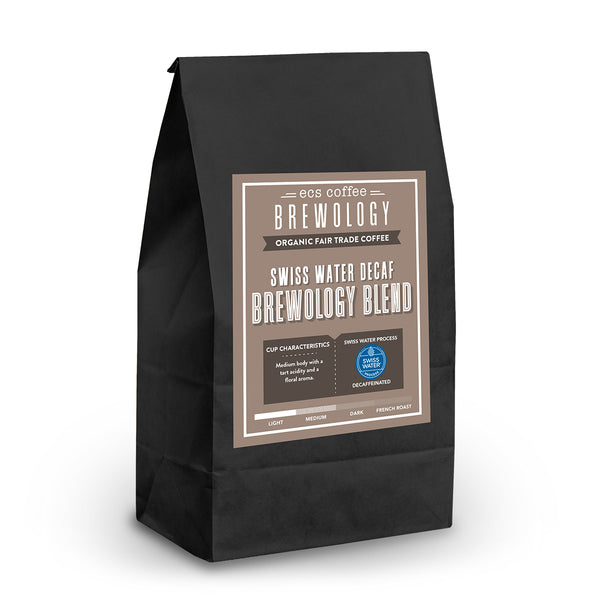 Brewology Blend Swiss Water Decaf Whole Bean Coffee 1lb