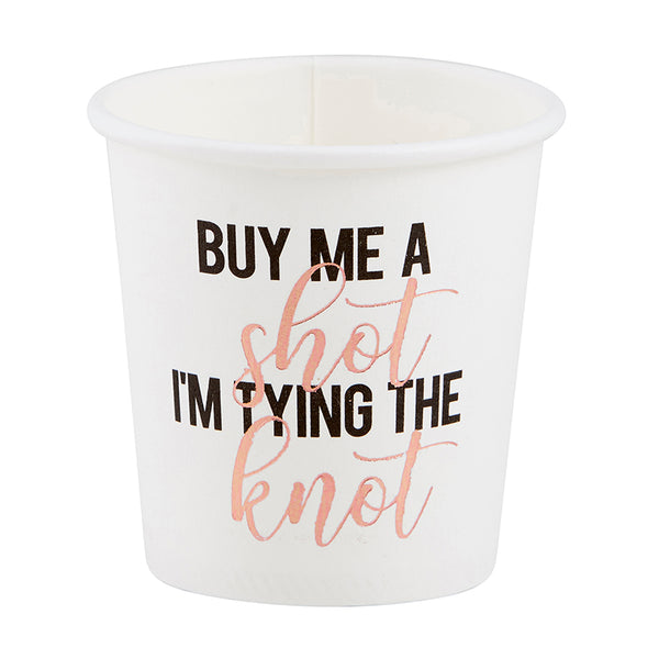 Santa Barbara Bachelorette Paper Shot Cups, Buy me a Shot