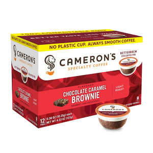 Cameron's Chocolate Caramel Brownie Single Serve Coffee 12 Pack