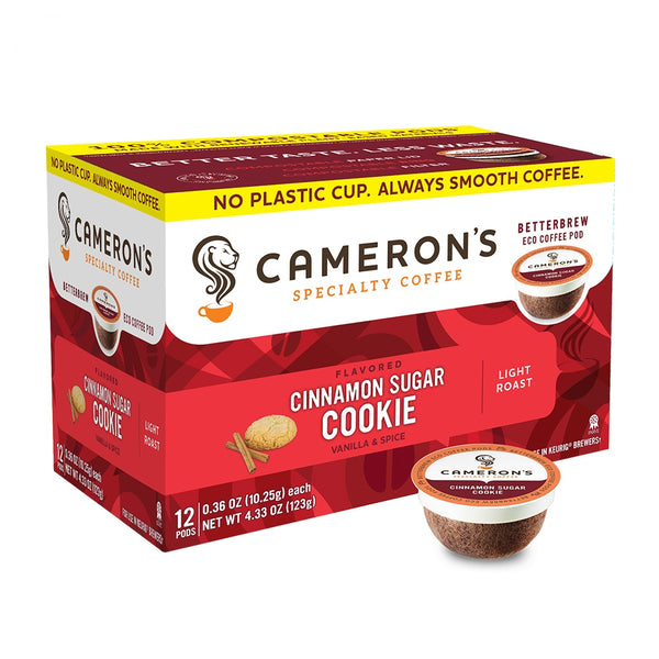 Cameron's Cinnamon Sugar Cookie Single Serve Coffee 12 Pack