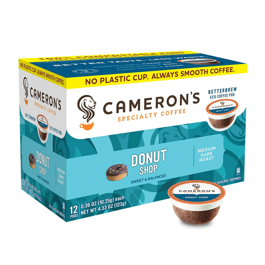 Cameron's Donut Shop Blend Single Serve Coffee 12 Pack
