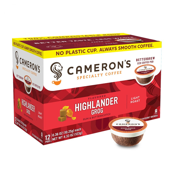 Cameron's Highlander Grog Single Serve Coffee 12 Pack