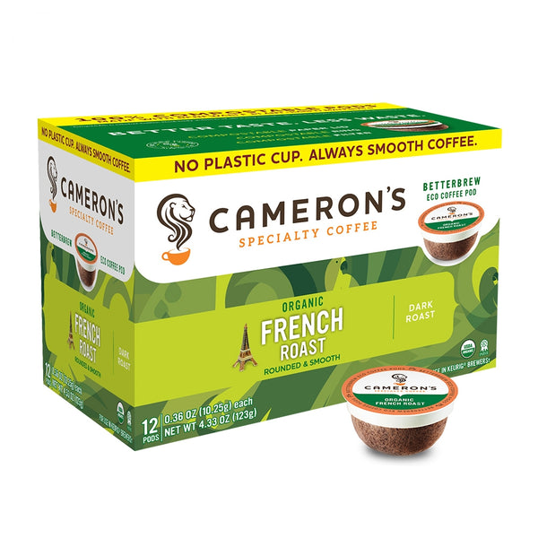Cameron's Organic French Roast Single Serve Coffee 12 Pack