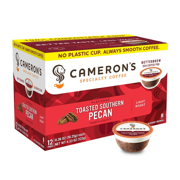 Cameron's Toasted Southern Pecan Single Serve Coffee 12 Pack