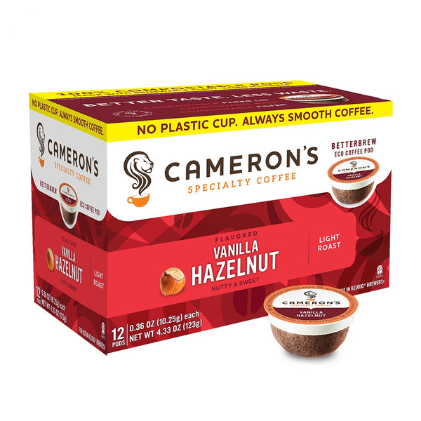 Cameron's Vanilla Hazelnut Single Serve Coffee 12 Pack