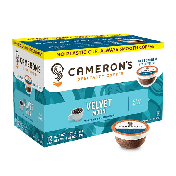 Cameron's Velvet Moon Espresso Single Serve Coffee 12 Pack