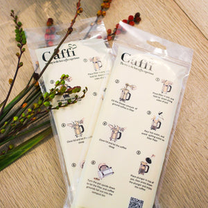 Caffi 3 Cup French Press Paper Filters, 25 Pack