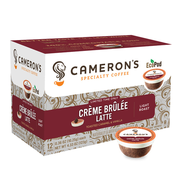 Cameron's Creme Brulee Latte Single Serve Coffee 12 Pack