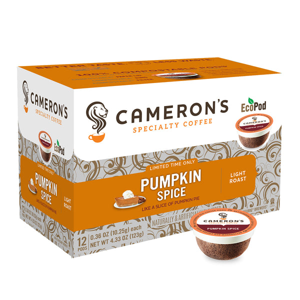 Cameron's Pumpkin Spice Single Serve Coffee 12 Pack