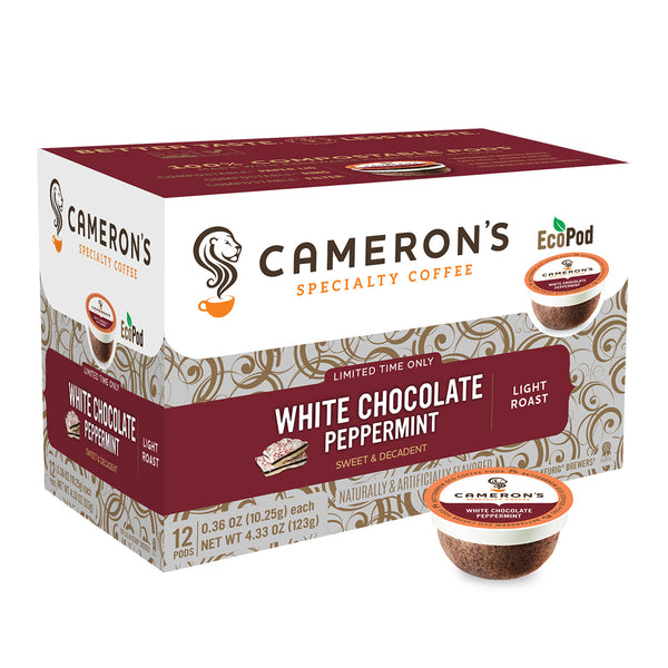 Cameron's White Chocolate Peppermint Single Serve Coffee 12 Pack