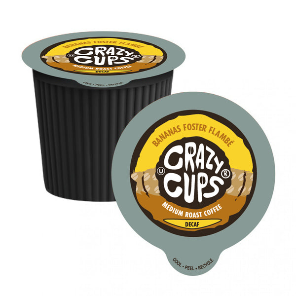 Crazy Cups Decaf Bananas Foster Flamb Single Serve Coffee 22 Pack