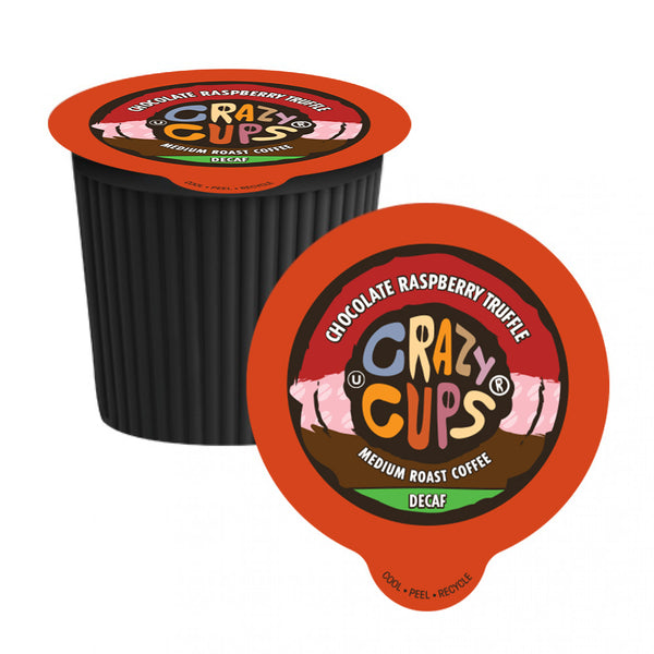 Crazy Cups Decaf Chocolate Raspberry Truffle Single Serve Coffee 22 Pack