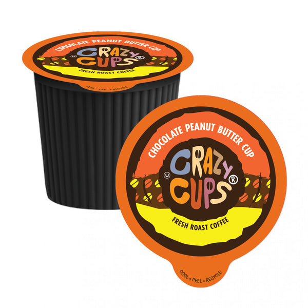 Crazy Cups Chocolate Peanut Butter Cup Single Serve Coffee 22 Pack