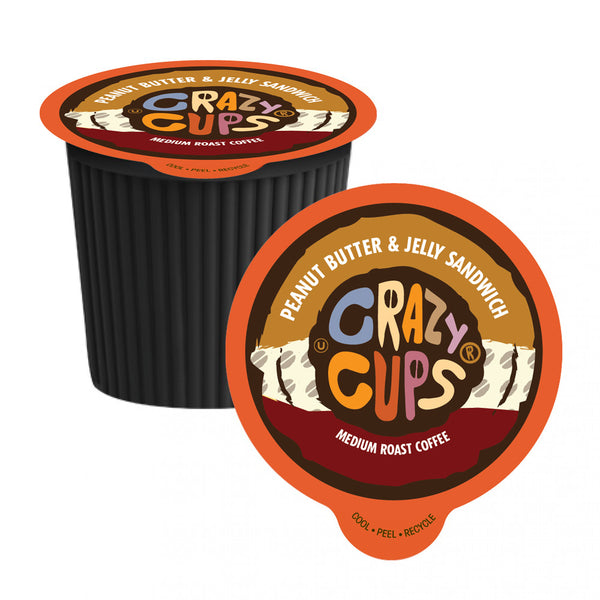 Crazy Cups Peanut Butter & Jelly Sandwich Single Serve Coffee 22 Pack