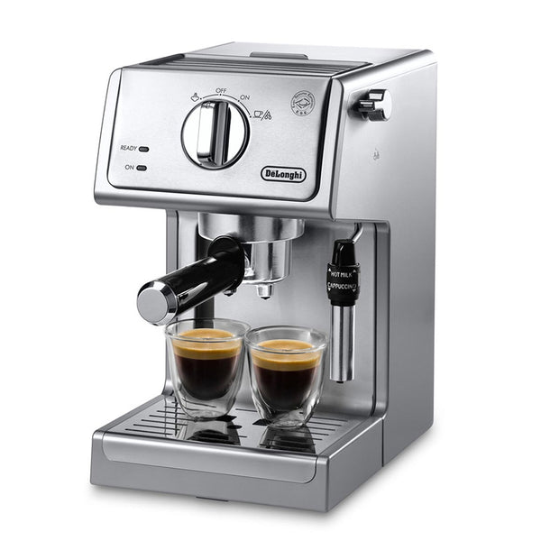 DeLonghi Pump Espresso Machine & Cappuccino Maker, Stainless Steel