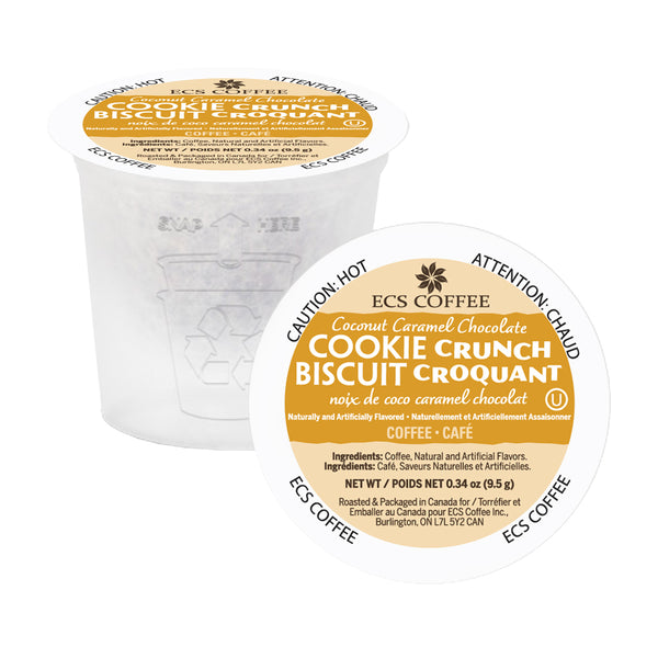 ECS Coffee Coconut Caramel Chocolate Cookie Crunch Single Serve Coffee 24 Pack