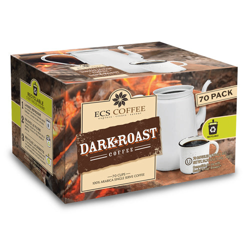 ECS Coffee Dark Roast Single Serve Coffee 70 Pack