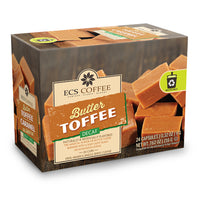ECS Coffee Decaf Butter Toffee Single Serve Coffee 24 Pack