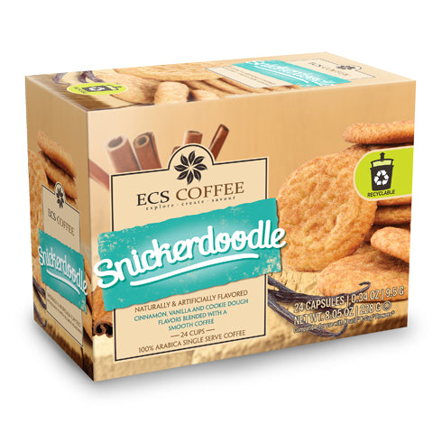 ECS Coffee Snickerdoodle Single Serve Coffee 24 Pack