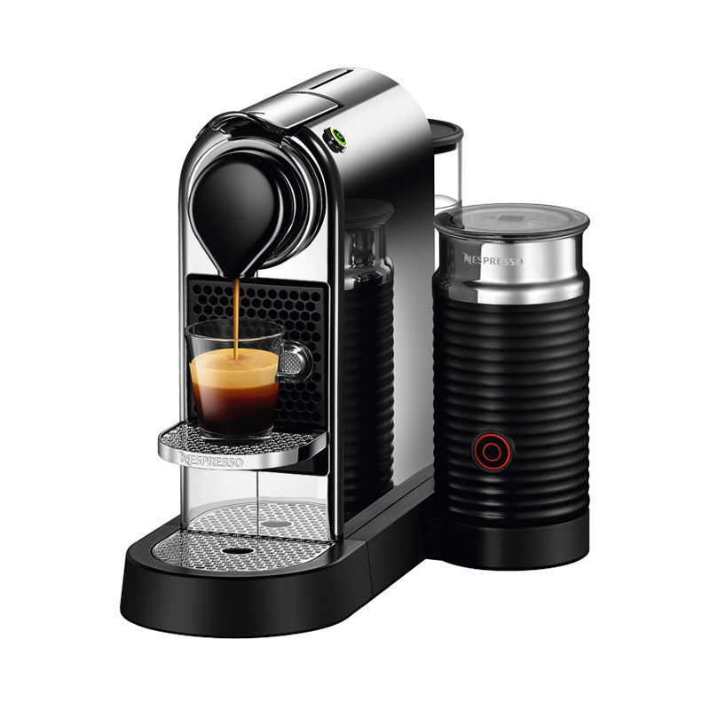 Nespresso Citiz Espresso Maker & Aeroccino 3 Milk Frother - Chrome