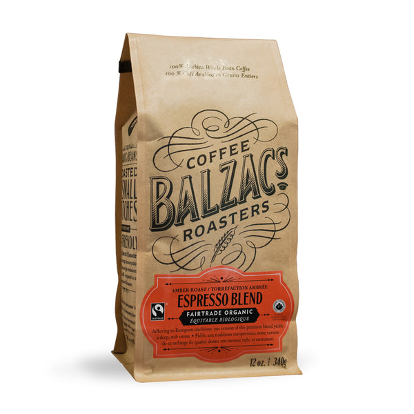 Balzac's Coffee Roasters Espresso Blend Whole Bean Coffee 12oz