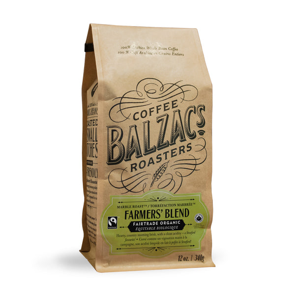 Balzac's Coffee Roasters Farmer's Blend Whole Bean Coffee 12oz