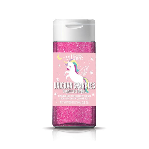 Gourmet du Village Unicorn Sparkles Sugar Topping, Pink