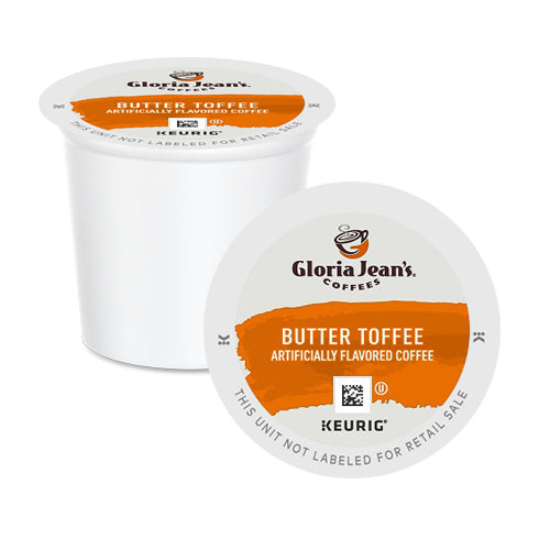 Gloria Jean's Butter Toffee K-Cup Pods 24 Pack