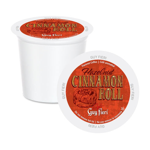 Guy Fieri Hazelnut Cinnamon Roll Single Serve Coffee 24 Pack