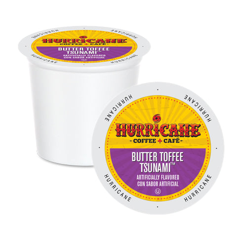 Hurricane Coffee Butter Toffee Tsunami Single Serve Coffee 24 Pack