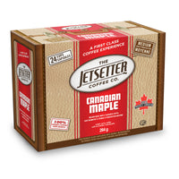 Jetsetter Canadian Maple Single Serve Flavoured Coffee 24 Pack Box