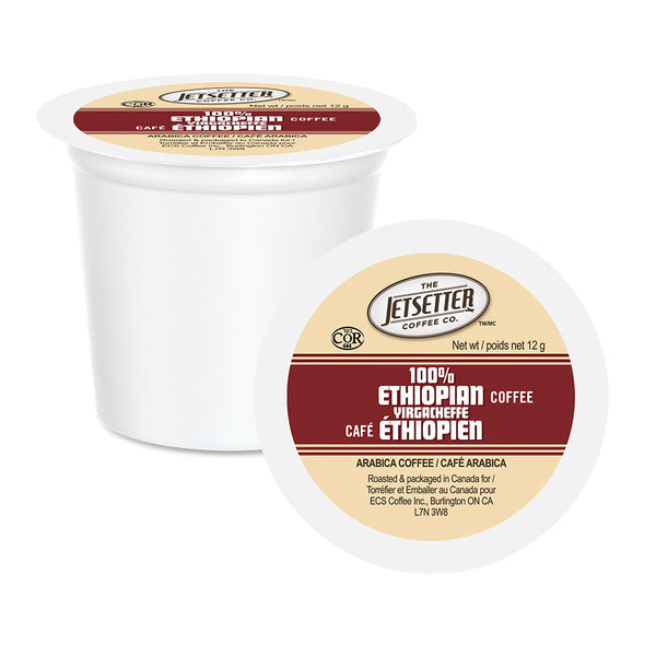 Jetsetter 100% Ethiopian Single Serve Coffee K-Cup Lid and Cup