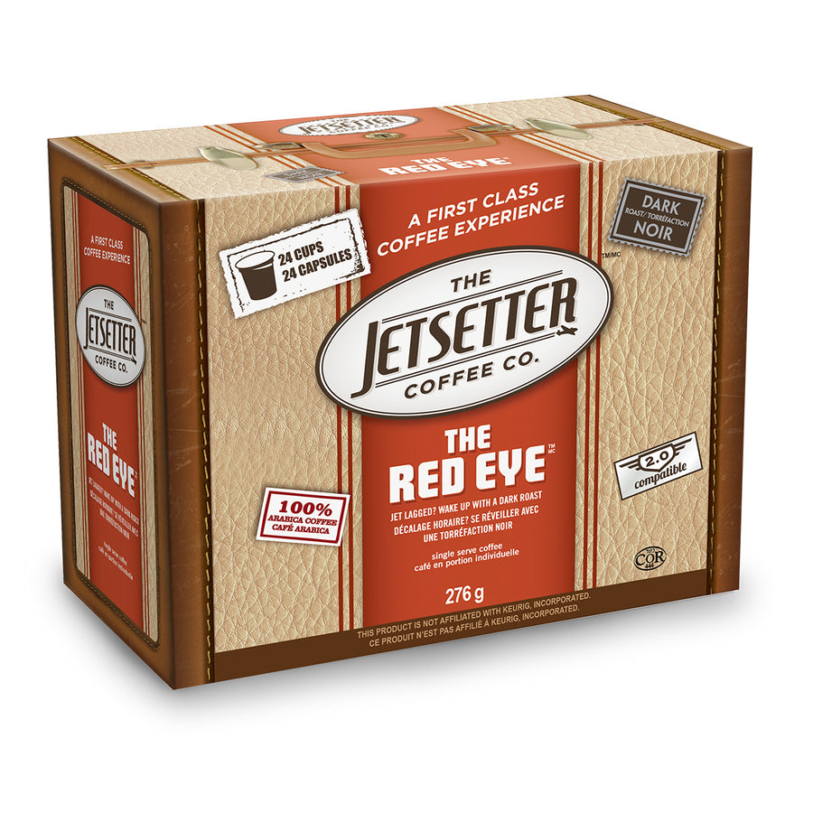 Jetsetter Red Eye Single Serve Coffee 24 Pack