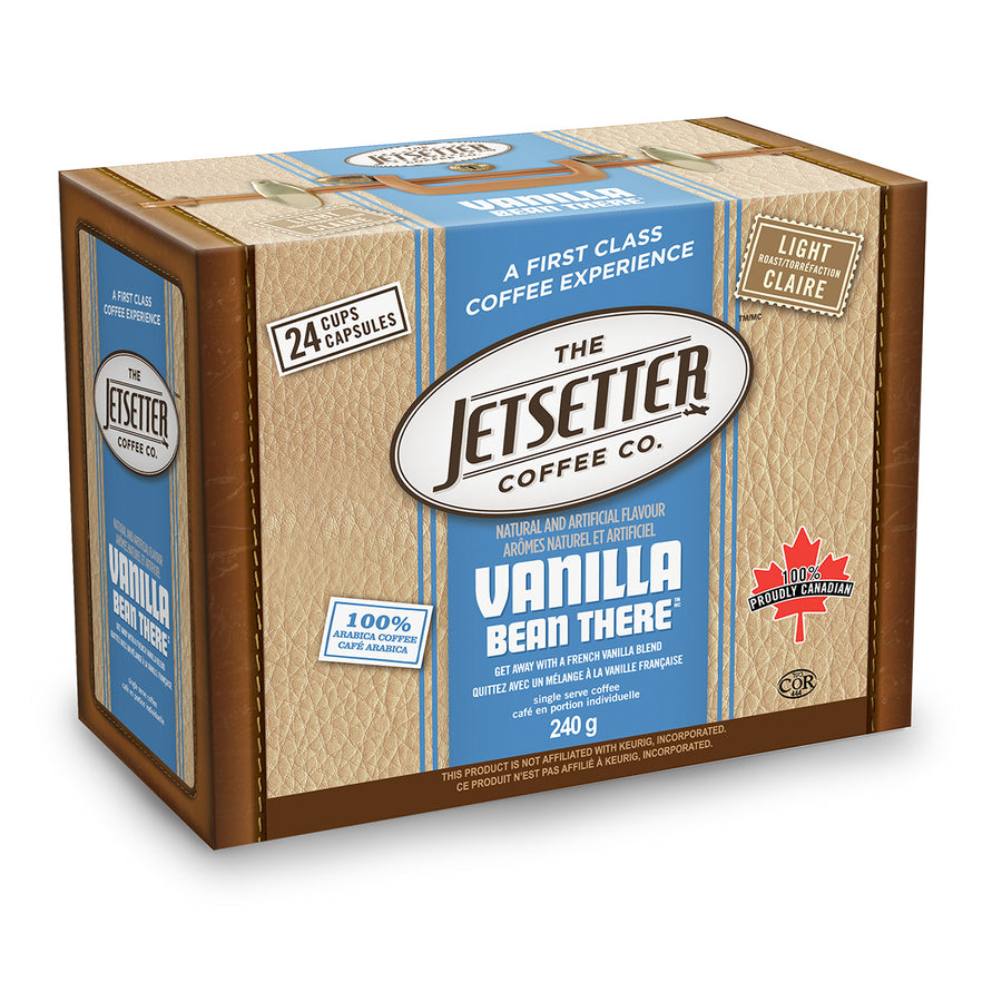 Jetsetter Vanilla Bean There Single Serve Coffee 24 Pack
