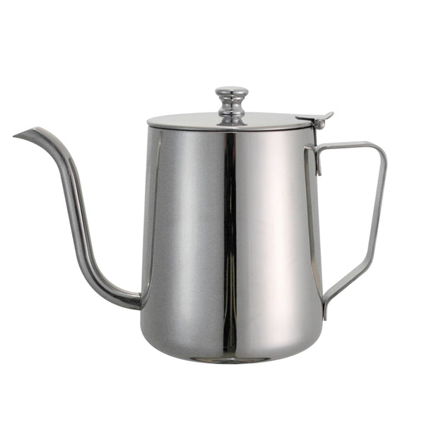 Concept Art Gooseneck Drip Kettle with Lid, 20 oz. Stainless Steel