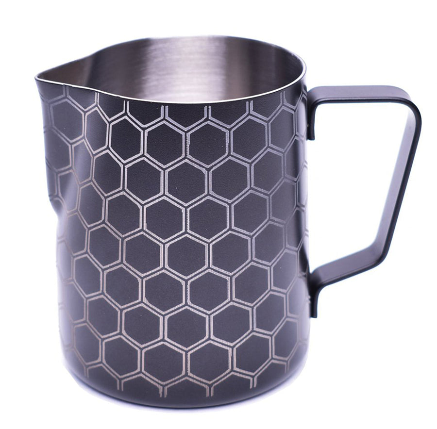 JoeFrex Frothing & Foaming Milk Pitcher, Honeycomb Style #MK06XH