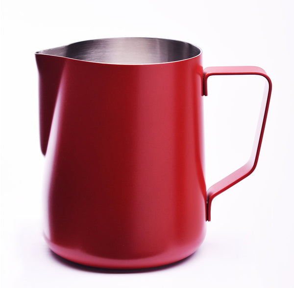 JoeFrex Frothing & Foaming Milk Pitcher, Red