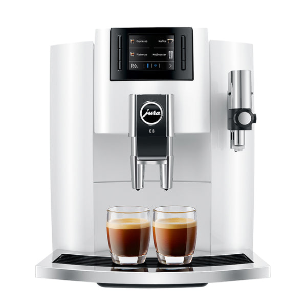 Jura E8 Automatic Espresso Machine, White