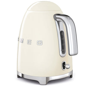 Smeg Electric Tea Kettle in Cream, back