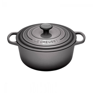 Le Creuset Signature Cast-Iron Round French Oven 5.3L - Oyster