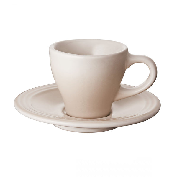 Le Creuset Stoneware Espresso Cups, Set of 2 - Meringue