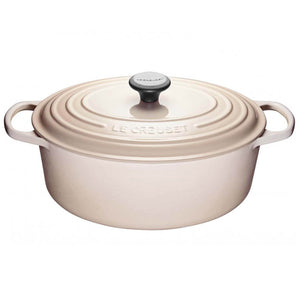 Le Creuset Signature Cast-Iron Oval French Oven 6.3L - Meringue