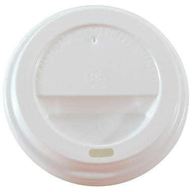 White Dome Lids for 12 oz. Cups